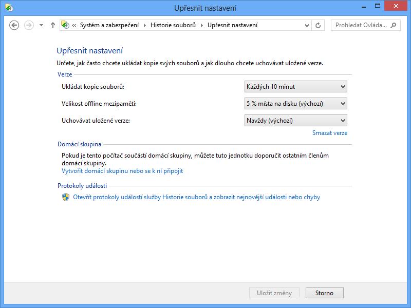 Historie souborů ve Windows 8 - Edumatik.cz