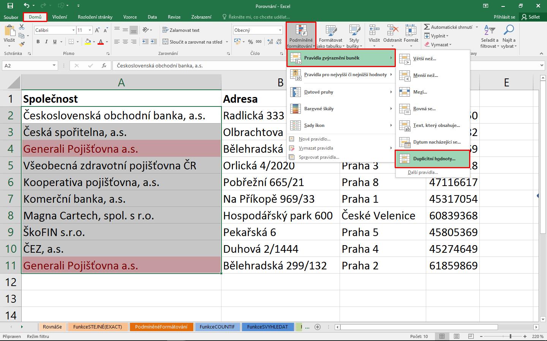Svyhledat Kdyz Index A Nektere Dalsi Funkce Excelu Ktere Musite