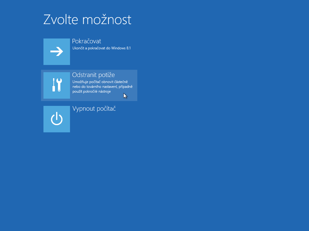 Windows 8.1 - obnova ze zálohy