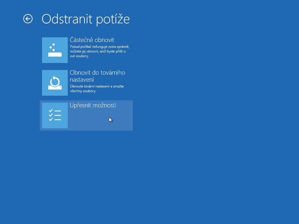 Windows 8.1 - obnova zálohy