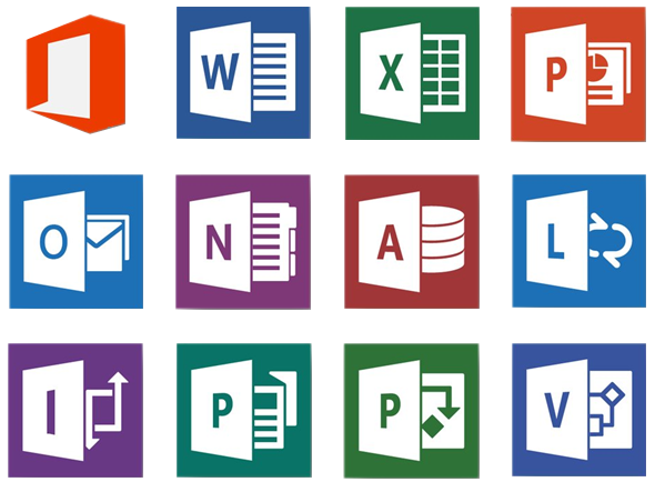 MS Office 2013 logos
